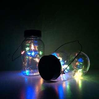 [ 二手 ] 彩色玻璃罐小提燈