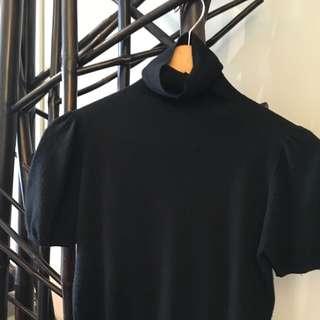 Prada Back  Shirt Sleeve Turtleneck Sweater