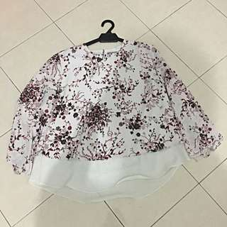 Zalia Flowery Double Layered Top