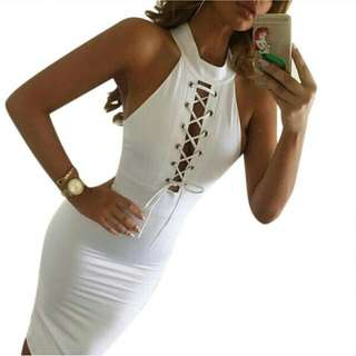 High Collar Mini Dress