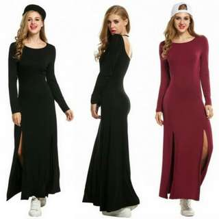 Slit Maxi Long Dress