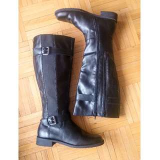 Black Knee High Boots Womens 9