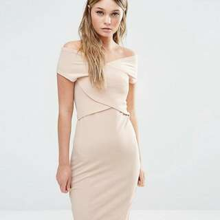 [BRAND NEW] Fashion Union Nude Bodycon Dress