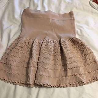 BCBG Nude Skirt In medium Size