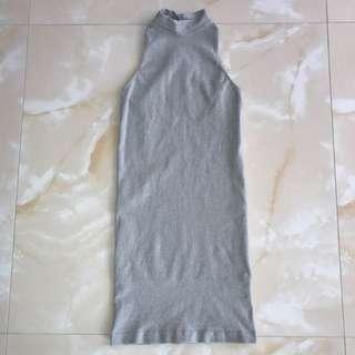 Bebe Silver Mini Dress