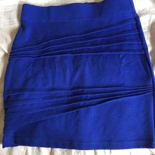 Bardot Size 8 Blue Tube Bandage Skirt