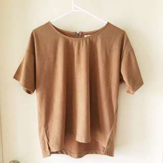 Brown Suede Shirt