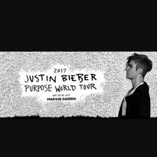 JUSTIN BIEBER 2xtickets for sale MELBOURNE MARCH 10th 2017  B Reserve Aisle 37 Level 3 Row T - Seats 84-85  $425 for both  pick up available or can be posted