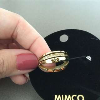 MIMCO Tectonic Flip Ring Gold Size L