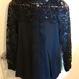 Mossman lace shirt dress