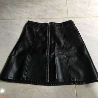 Leather Skirt H&M