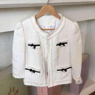 Korean Tweed Chanel White Blazer