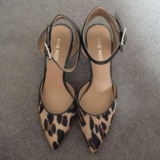 Nine West Leopard Print Medium Heel Pumps