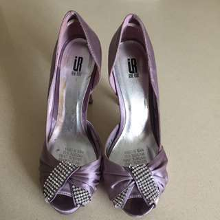 Light Purple Heels With Bling