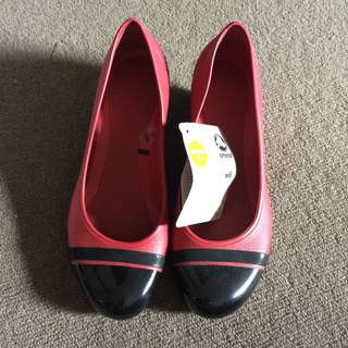 Crocs Red And Black Wedges Pump