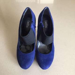 Betts Cobalt Blue Suede Heels
