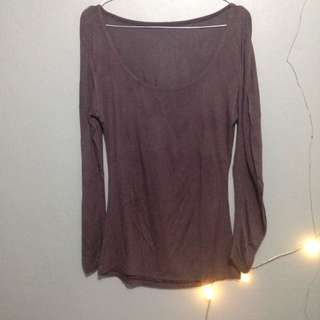 Long Sleeves Deep Purple