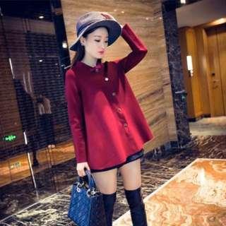 FREE SHIPPING! Red Longsleeves Korean Fashion