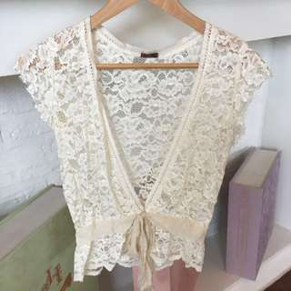 CDR White Lace Cardigan