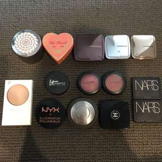 Various Blushes, Highlights & Powders