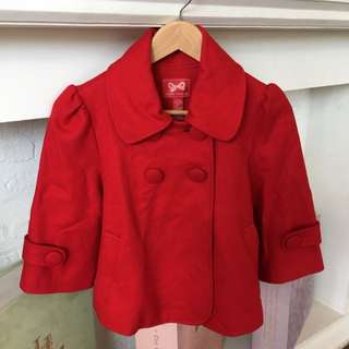 Forever 21 Red Wool Jacket