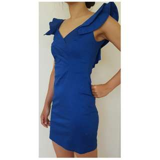 TFNC London Blue Ruffle Dress Size Small bought from ASOS