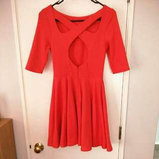 Asos Red Party Dress Size 6