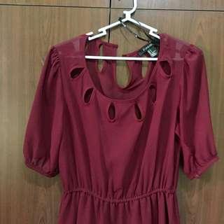 Forever21 Maroon Dress