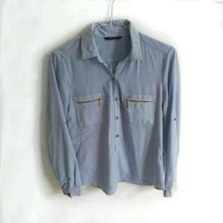 [ USED 1x ] THE EXECUTIVE light blue shirt / kemeja biru muda