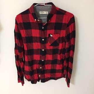 Abercrombie 襯衫 紅格紋