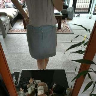 Blue Thin Stripe Short Skirt Size 8