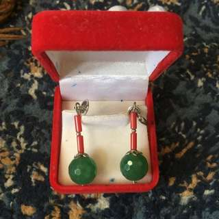 Genuine Stone Ear Ring