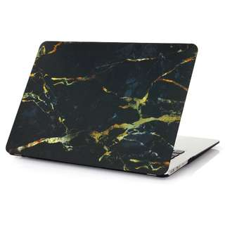Black Marble w/ Gold Streaks Matte Macbook Case