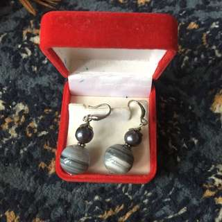 Unique Genuine Stone Ear Ring