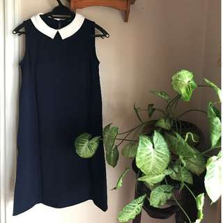 Dorothy Perkins Navy Blue Sleeveless Dress
