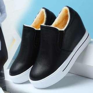 秋冬內襯保暖增高鞋 隱形增高7cm