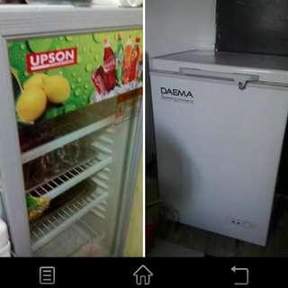 Chiller Upson Brand & Freezer Daema by Daewoo Brand.