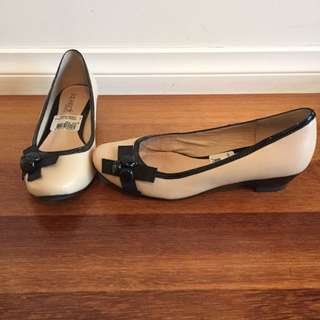 Nude Super Soft Leather Shoes