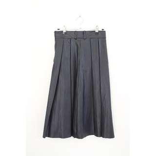 Cub Run fake leather dark navy skirt