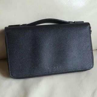 Coach Black Leather Travel Organizer / Wallet