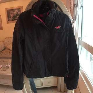 美國Hollister黑灰色防風外套XS