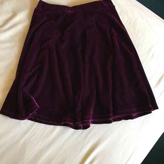 Dotti Suede Red A-Line Skirt Size 6