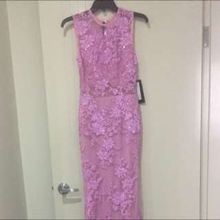 Alex Perry Alucia Brand New Pink Lace Dress / Gown