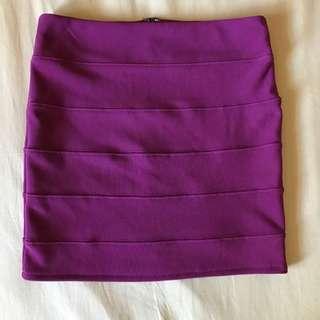 Dotti Purple Mini Skirt Size 8
