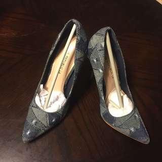 🚚 全新Shoe Republic La仿牛仔布料高跟鞋