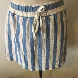 Cute Stripe Mini Skirt Size 8 Vale Denim