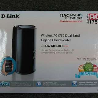DLink AC 1750 Dual Band + usb3.0 Wi-Fi Router