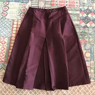 Twenty3 High-waisted Maroon Cullottes
