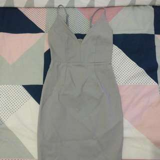 Grey Midi Dress 💞