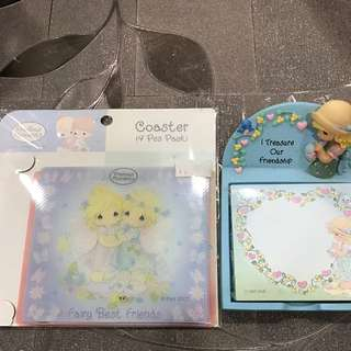 Precious Moment Coaster Pack And Notepad